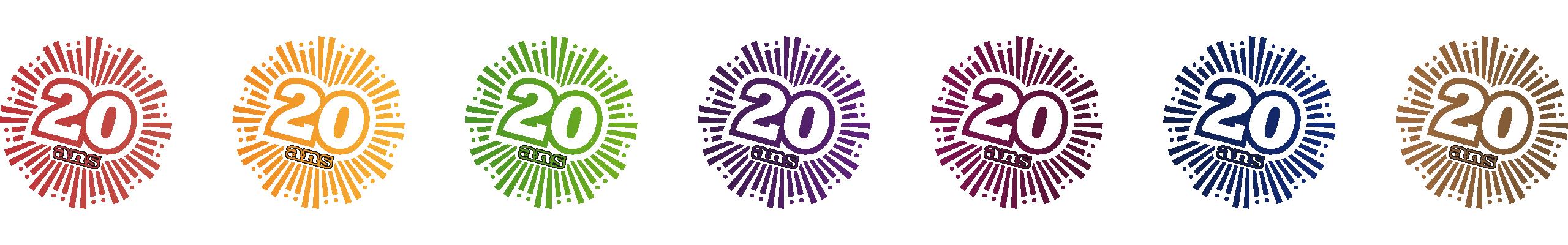 CEM Logotype 20 ans déclinaison couleurs commissions